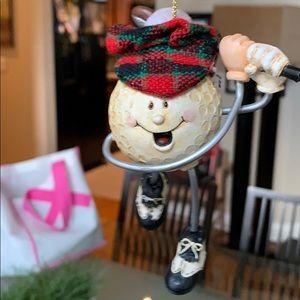 Golf Ornament Christmas NWT